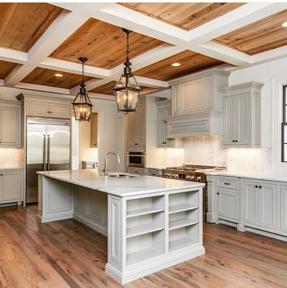 Plafonds et murs de bois : 4 styles à découvrir pour votre cuisine ...