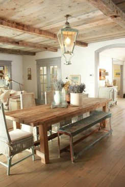 Whether You Prefer A Natural Or More Rustic Decor Wood Covered Ceiling Will Add Touch Of Country If Your Kitchen Has Large Wooden Beams On The