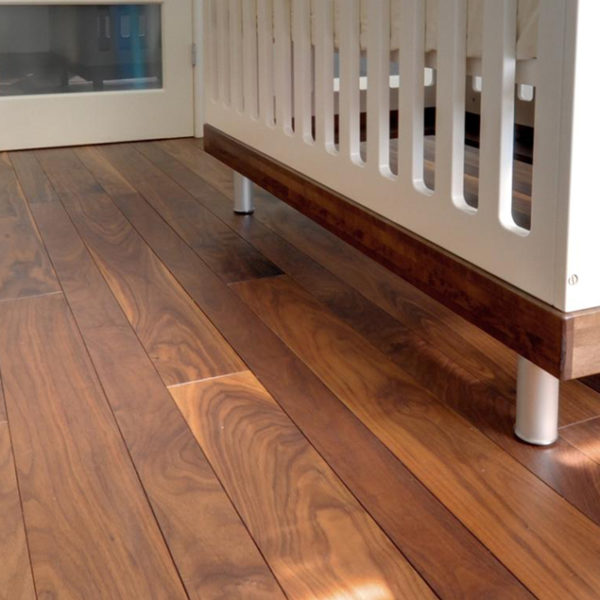 long and wide black walnut flooring