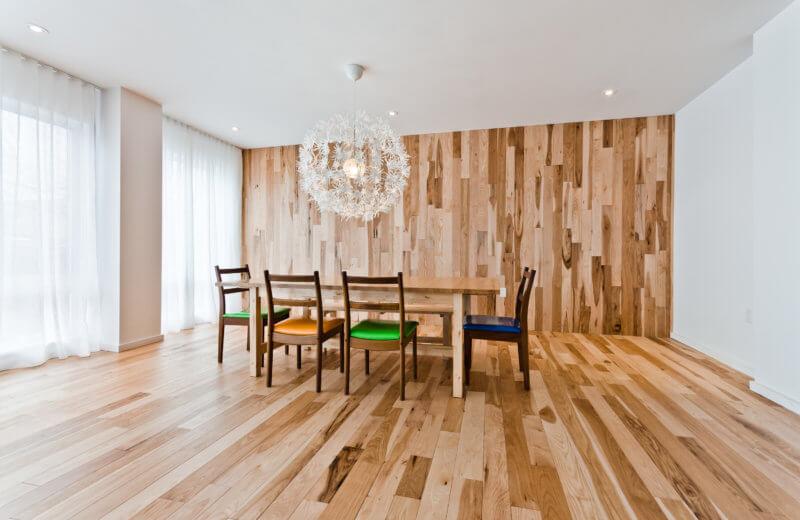 plancher de bois dans la cuisine Solu Hardwood